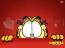 Garfield asomándose