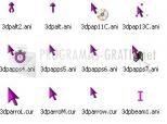 3D Purple Animated Cursors 1.0d