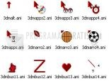 Download 3D Maroon Animated Cursors 1.1d