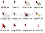 Download 3D Red Animated Cursors 2.1d