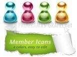 Glossy Member Icons