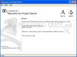 Recovery for Project Server 1.1