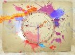 Water Color Clock Screensaver 3.1