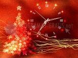 Gold Glow Christmas Clock screensaver 2.9
