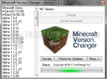 Minecraft Version Changer