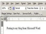 Blogger for Word 1.0