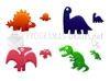 Download dinosaurs toys icons
