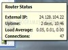 Download router status