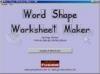 Download word shape worksheet maker