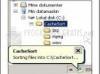 Download cache sort