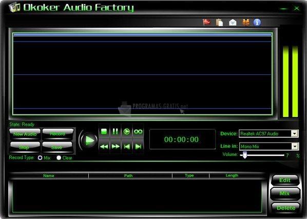 Pantallazo Okoker Audio Factory