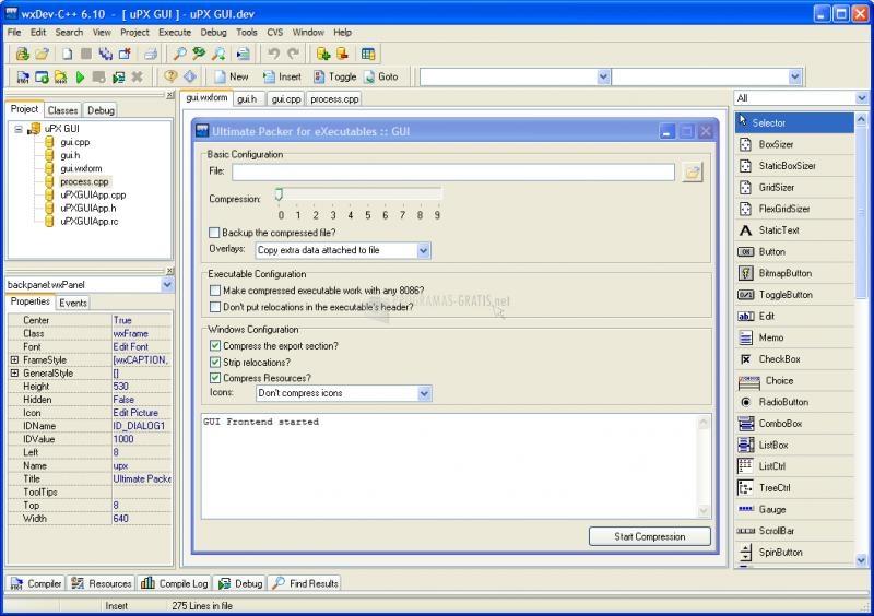 Pantallazo WxDev-C++