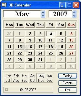 Pantallazo Webxpace Calendar