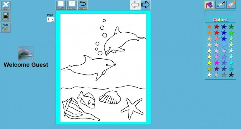 Pantallazo Desktop Dolphin Coloring Book