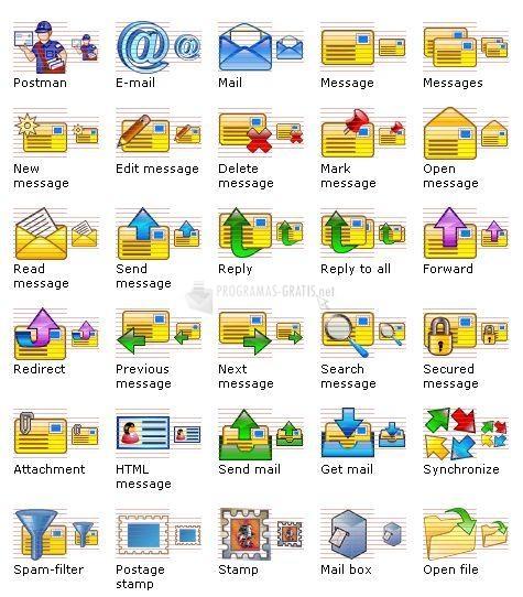 Pantallazo E-mail Icon Set