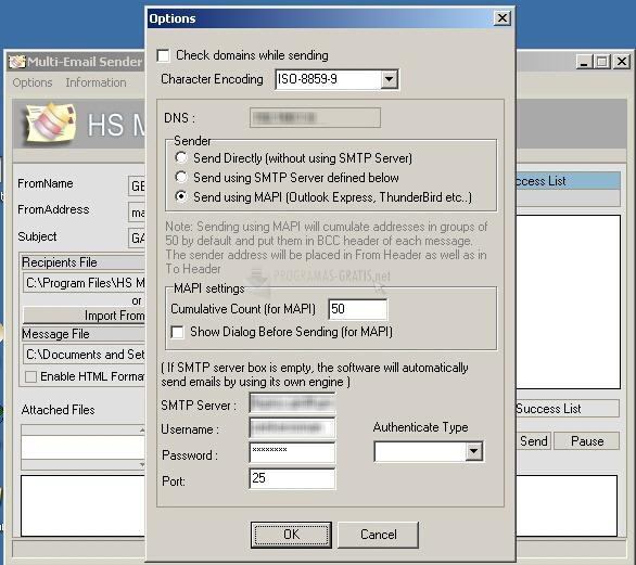 Pantallazo HS Multi-Email Sender