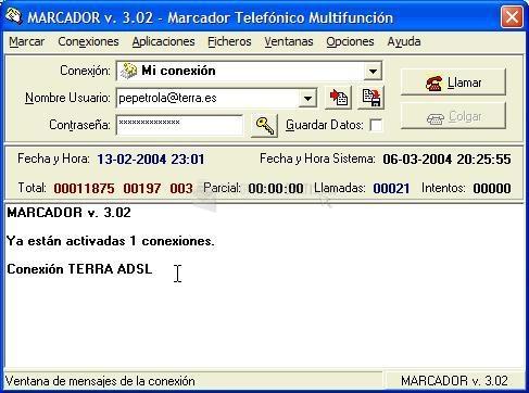 Pantallazo Marcador Telefónico Multifunción