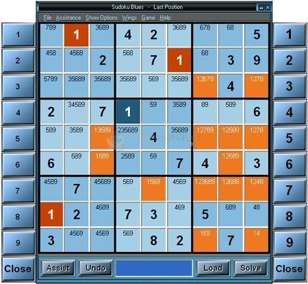 Pantallazo Sudoku Blues