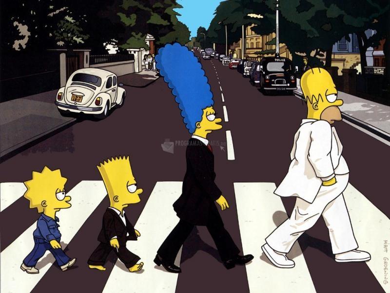 Pantallazo Simpsons Beatles