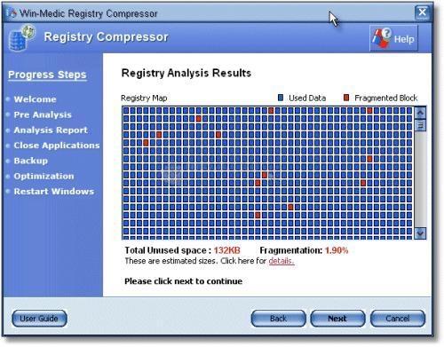 Pantallazo Registry Compressor