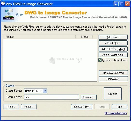 Pantallazo Any DWG to Image Converter