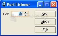 Pantallazo Port Listener
