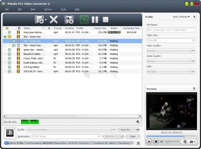 Pantallazo PS3 Video Converter