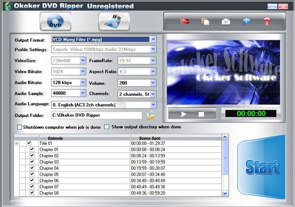 Pantallazo Okoker DVD Ripper