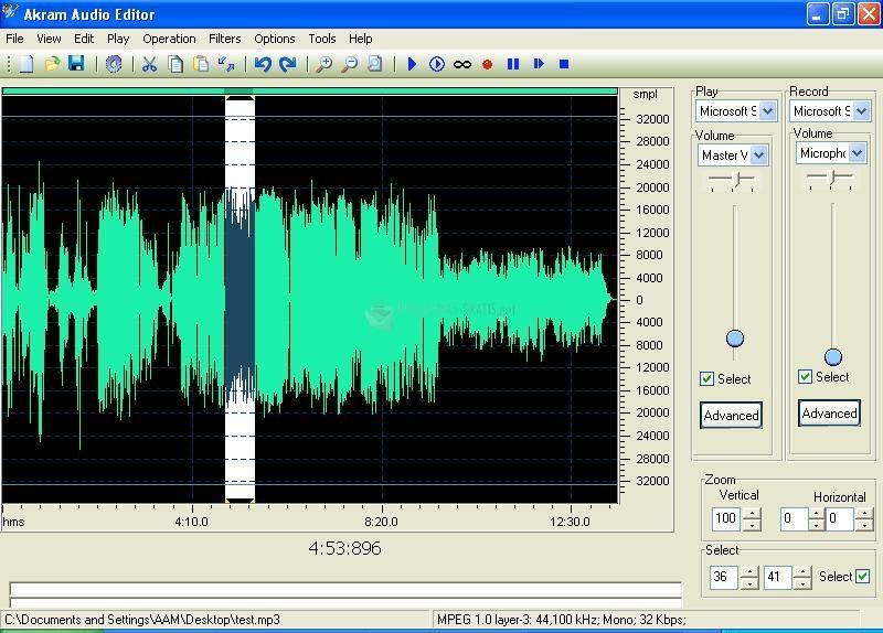 Pantallazo Akram Audio Editor