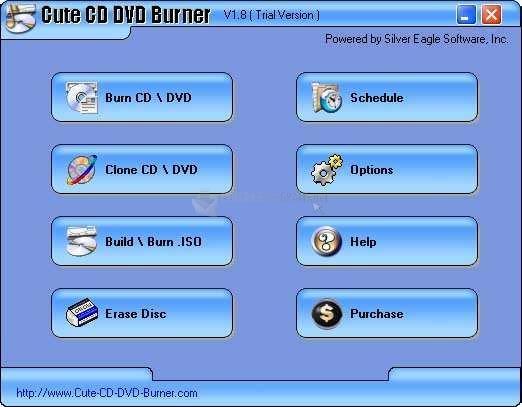 Pantallazo Cute CD DVD Burner