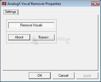 Pantallazo Vocal Remover