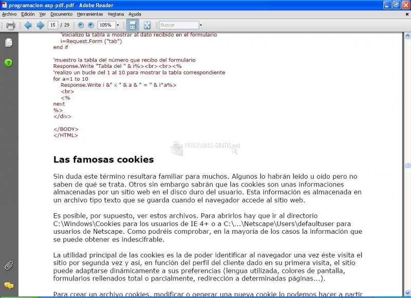 Pantallazo Manual Iniciación ASP