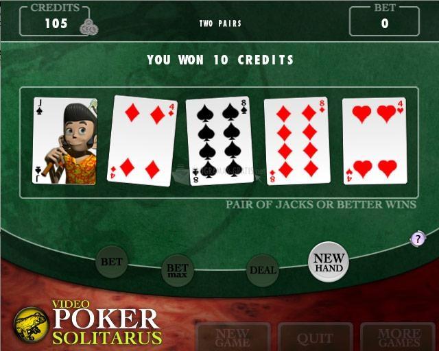 Pantallazo Video Poker Solitarus