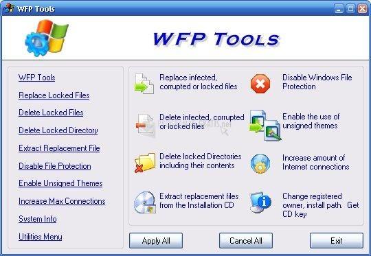 Pantallazo WFP Tools