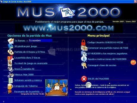 Pantallazo Mus 2000