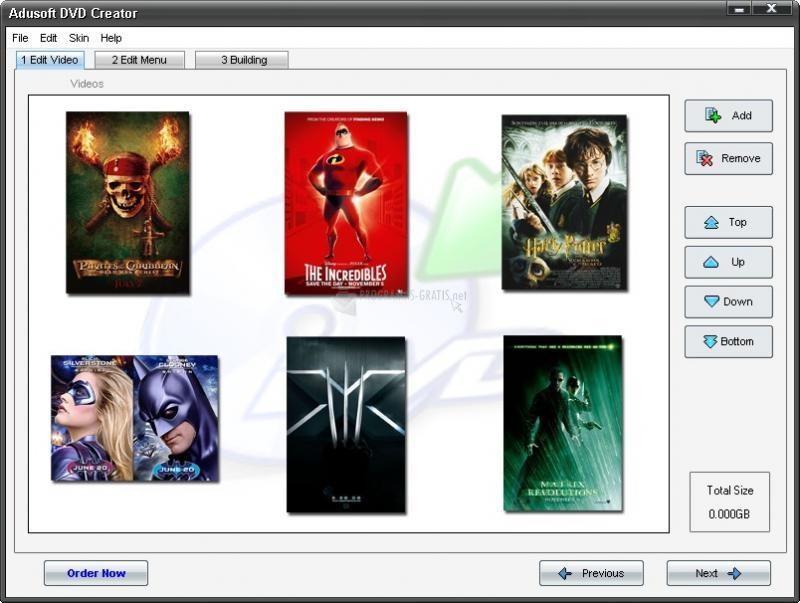 Pantallazo Adusoft DVD Creator