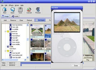 Pantallazo iPod Photo Slideshow Maker