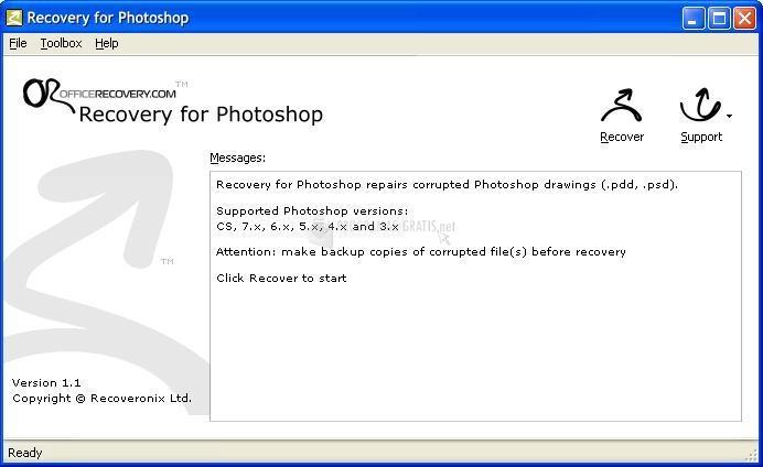 Pantallazo PhotoshopRecovery