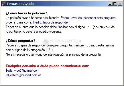 Pantallazo Pedro Responde