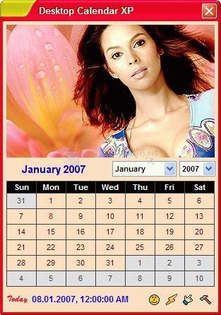 Pantallazo Desktop Calendar