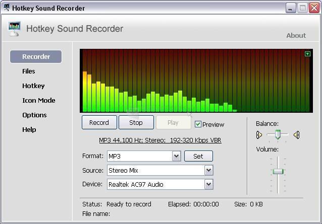 Pantallazo Hotkey Sound Recorder