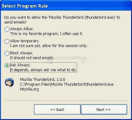 Pantallazo EmailSupervisor