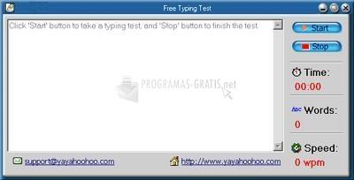 Pantallazo Free Typing Test