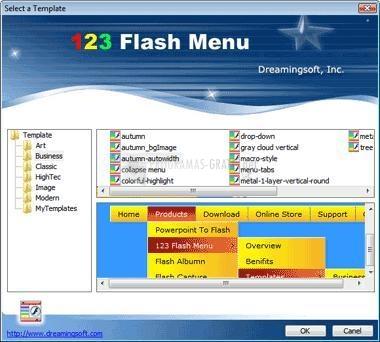 Pantallazo 123 Flash Menu