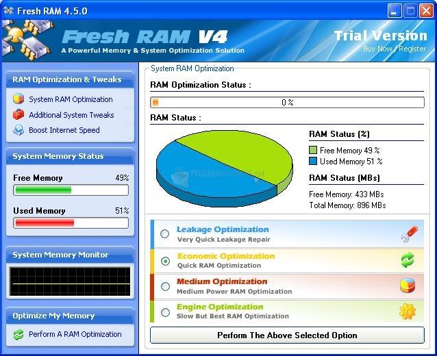Pantallazo Fresh RAM