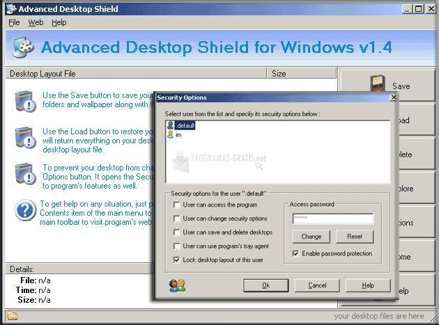 Pantallazo Advanced Desktop Shield