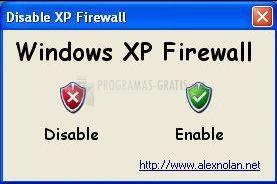 Pantallazo Disable Windows XP Firewall