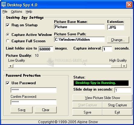 Pantallazo Desktop Spy