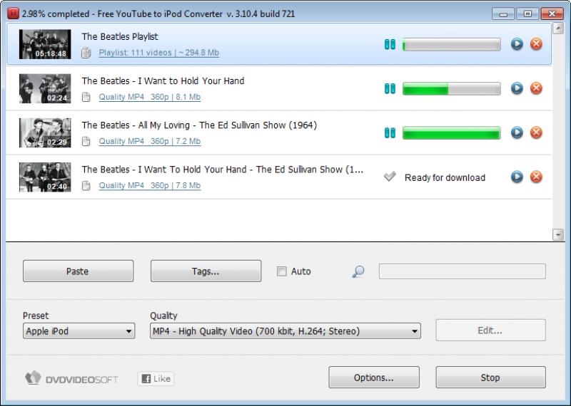 Pantallazo YouTube to iPod Converter