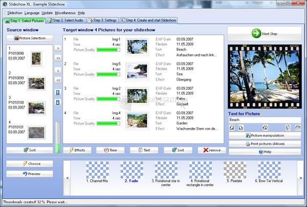Pantallazo Slideshow XL Pro
